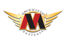 m powered bats logo